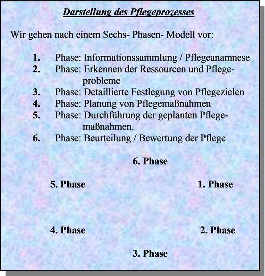 6 Phasen der Pflege